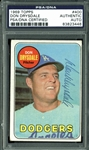 Don Drysdale Signed 1969 Topps #400 Card (PSA/DNA Encapsulated)