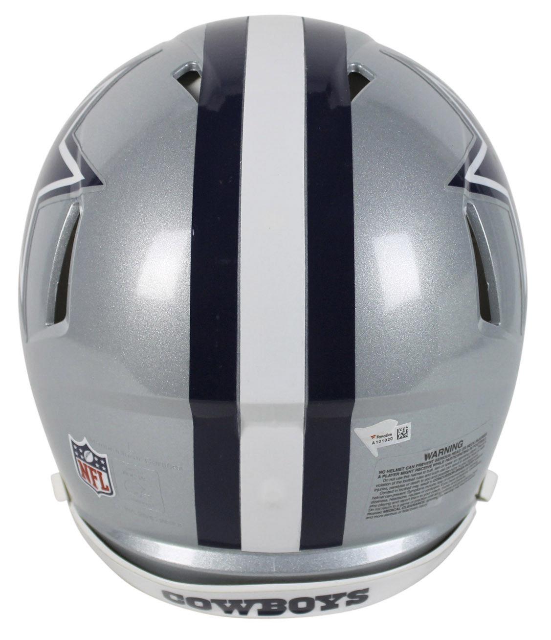 918a136e7a3 ... Dak Prescott & Ezekiel Elliott Dual-Signed Dallas Cowboys Speed Helmet  (Fanatics)