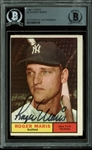Roger Maris Signed 1961 Topps #2 Baseball Card (BAS/Beckett Encapsulated)