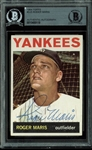 Roger Maris Signed 1964 Topps #225 Baseball Card (BAS/Beckett Encapsulated)
