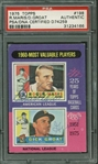 1960 MVPs: Roger Maris & Dick Groat Dual-Signed 1975 Topps #198 Card (PSA/DNA Encapsulated)