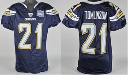 2010 LaDainian Tomlinson Playoff Worn San Diego Chargers Uniform - 1/17/10 vs. Jets - Tomlinsons Final Game as a Charger!