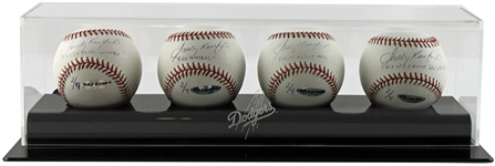 Sandy Koufax Set of Four (4) Unique Signed & Inscribed Stat Baseballs - 1 of Only 4 Sets in Existence! (UDA)