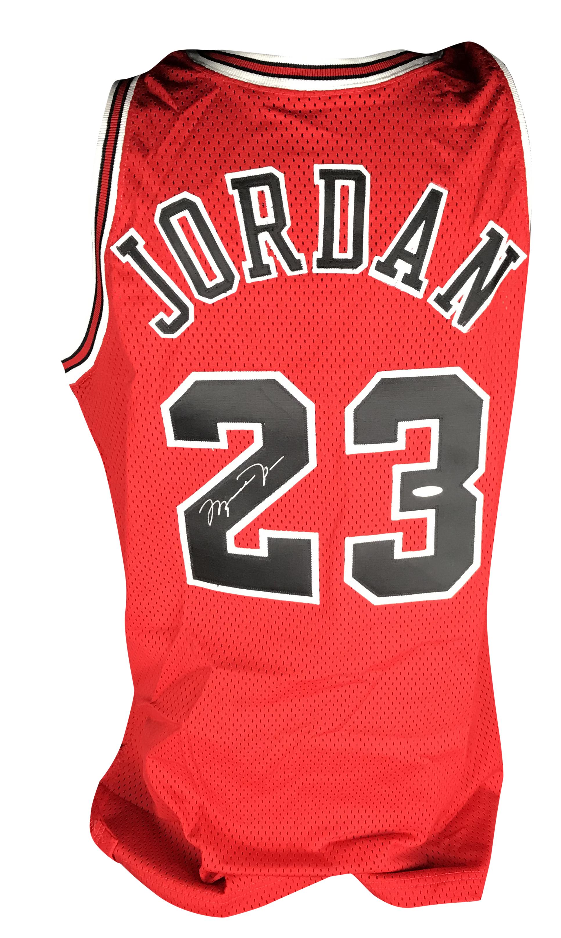 best sneakers 0cea1 0e174 Lot Detail - Michael Jordan Signed Pro Cut 1996/97 Champion ...
