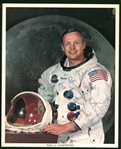 "Apollo 11: Neil Armstrong Signed & Inscribed 8"" x 10"" Official NASA Portrait Photo (JSA)"