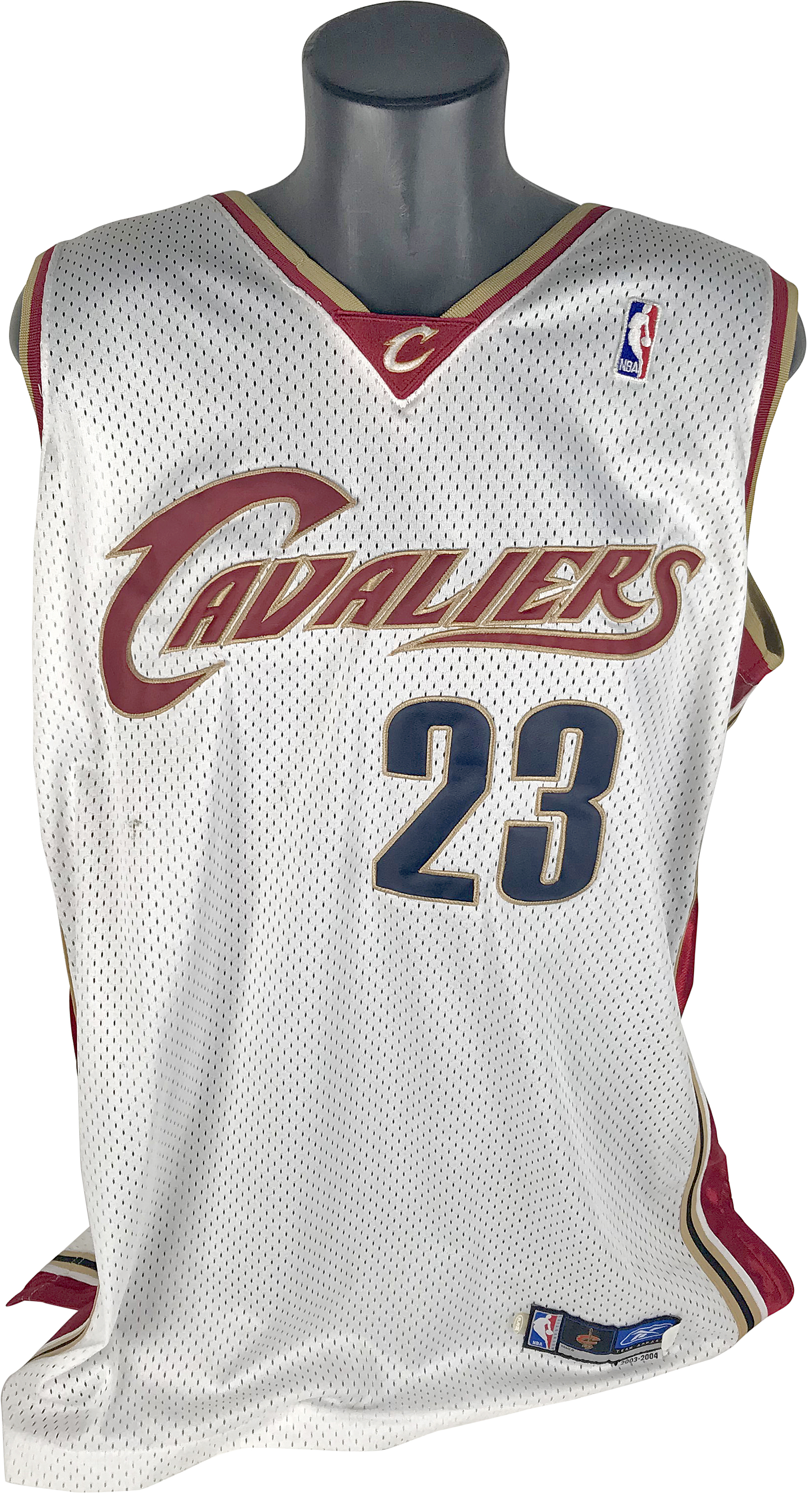 save off 003aa 6e7a8 Lot Detail - LeBron James Game Worn/Used 2003-04 Cleveland ...