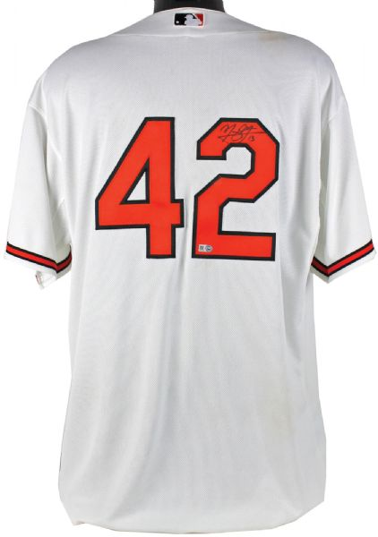 Manny Machado Game Used & Signed 2015 Jackie Robinson Day Orioles Jersey vs. New York Yankees (MLB Authentic)
