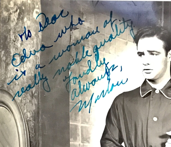 Marlon Brando Signed & Inscribed Original 8 x 10 Streetcar Named Desire Photograph! (PSA/DNA)