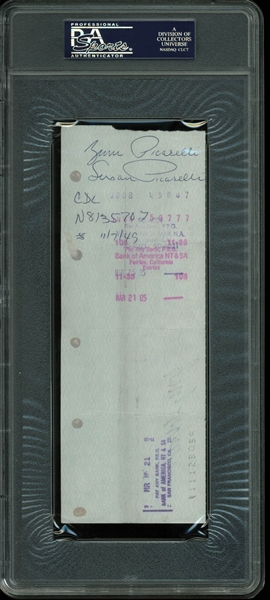 The Grateful Dead: RARE Jerry Garcia Signed 1985 Bank Check (PSA/DNA Graded MINT 9)