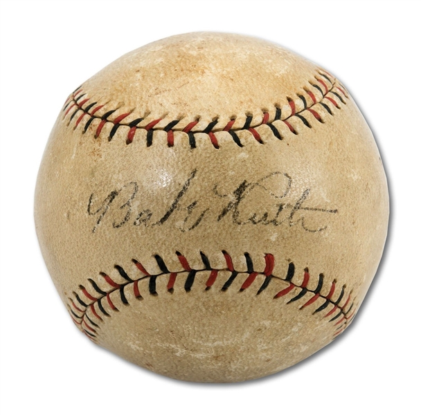 Babe Ruth EARLY 1918-1919 Single Signed ONL (Heydler) Baseball - Red Sox Era! (PSA/DNA)