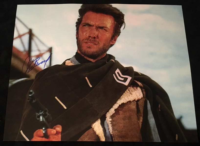 Clint Eastwood Signed 16 x 20 Photograph from Fistful of Dollars (BAS/Beckett Guaranteed)
