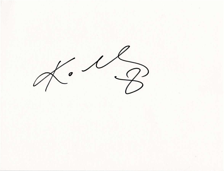 Kobe Bryant Signed 8 x 11 Art Board (BAS/Beckett Guaranteed)