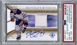 2015 Upper Deck Ultimate Rookies Connor McDavid Signed Rookie Card - PSA GEM MINT 10!