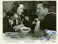 "Gene Kelly and Kathryn Grayson Dual Signed 8"" x 10"" Vintage Photograph (Beckett/BAS Guaranteed)"