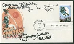 "1993 Signed First Day Cover ""Space Fantasy"" w/ Jeremy Bulloch, Caroline Blakiston & Phil Brown (Beckett/BAS Guaranteed)"