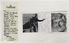 Lot of Two (2) Dave Prowse Signed & Handwritten Notes (Beckett/BAS Guaranteed)