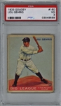 1933 Goudey Lou Gehrig #160 Card - PSA Graded VG 3