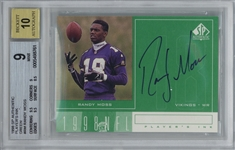 Randy Moss Signed 1998 SP Authentic Players Ink Rookie Card - BGS 9 w/ GEM MINT 10 Auto!