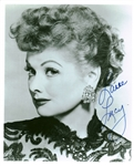 "Lucille Ball Signed 8"" x 10"" B&W ""I Love Lucy"" Photograph (Beckett/BAS Guaranteed)"