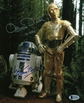 "Anthony Daniel & Kenny Baker Signed 8"" x 10"" Star Wars Photograph (Beckett/BAS)"