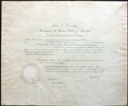 John F. Kennedy Signed 1963 Presidential Appointment Document (BAS/Beckett)