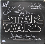 Star Wars Cast Signed Album Soundtrack Cover with Hamill, Williams, etc. (5 Sigs)(Beckett/BAS)