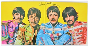 "The Beatles: Paul McCartney & Ringo Starr Dual Signed ""Sgt Peppers"" Record Album Gatefold (Beckett/BAS)"