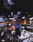 "Star Wars: George Lucas Signed 11"" x 14"" Photograph w/ His Creations (PSA/DNA)"