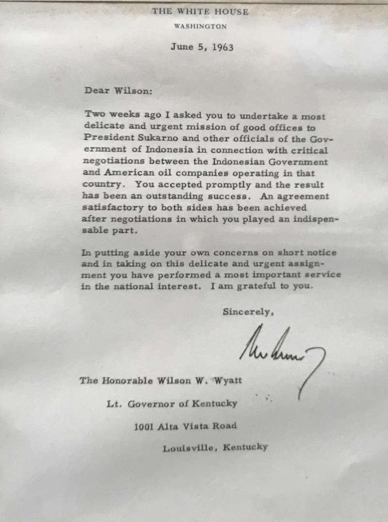 Lot Detail - President John F  Kennedy Signed White House Letter w