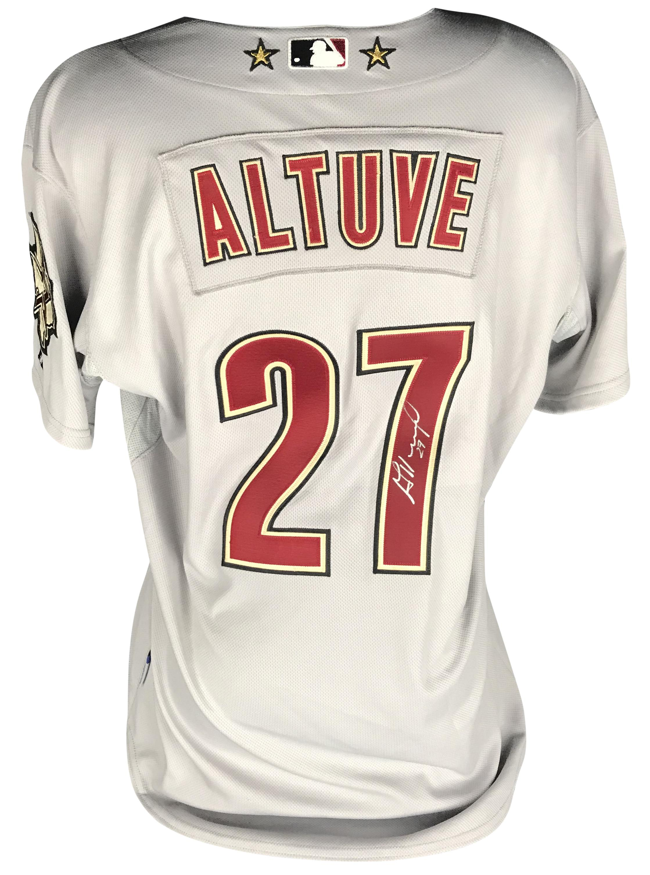 cheaper c905f e8408 Lot Detail - Jose Altuve Signed & Game Used/Worn First ...