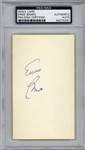 "Ernie Banks Signed 3"" x 5"" Index Card w/ Rookie-Era Autograph (PSA/DNA Encapsulated)"