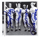 "Big Red Machine Signed 4"" x 5"" Magazine Photograph w/ Rose, Morgan, Bench & Perez (Beckett/BAS)"