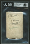 "The Beatles: Stunning Group Signed 3.5"" x 6"" Photograph w/ McCartney, Lennon, Harrison & Starr! (Beckett/BAS Encapsulated)"