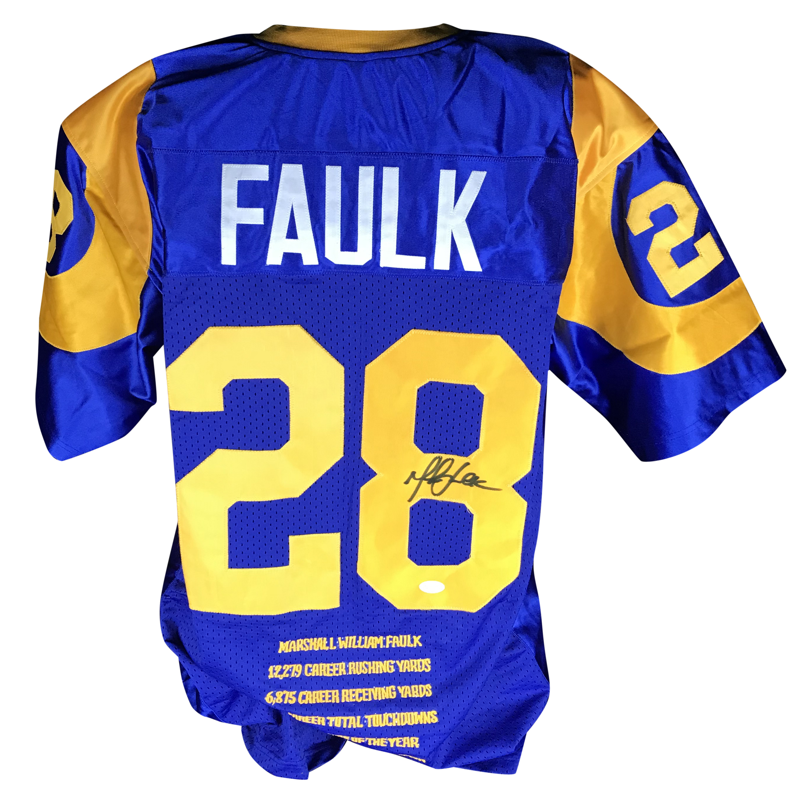 buy online 84d49 1beae Lot Detail - Marshall Faulk Signed St. Louis Rams Jersey (JSA)