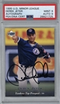 Derek Jeter Signed 1995 UD Minor League Pre-Rookie Card (PSA 9 Card, 9 Auto)