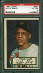 Willie Mays Sharp 1952 Topps #261 Rookie Card - PSA Graded VG-EX 4!