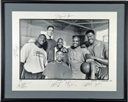 "Space Jam  Complete Team Signed 28"" x 22"" Limited Edition Production Photograph w/ Jordan, Barkley & Others! (Beckett/BAS)"