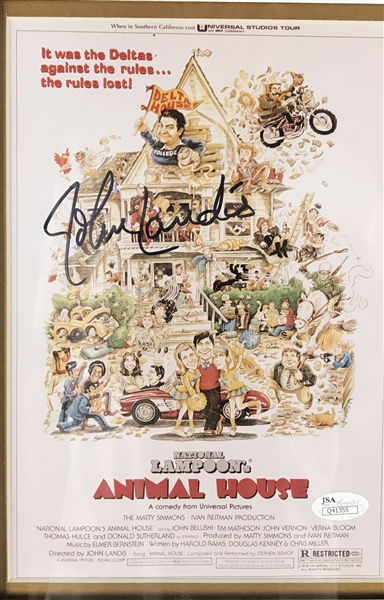 Animal House Cast Signed 34 x 43 Display w/ John Belushi! (JSA)