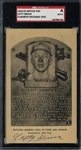 """Lefty"" Grove Signed 1953-55 Artvue Hall of Fame Plaque Card (SGC Encapsulated & BAS/Beckett Guaranteed)"