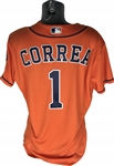 Carlos Correa Used/Worn 2017 Houston Astros Jersey During 100 Season Victory! (MLB)