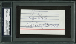 The M&M Boys: Mickey Mantle & Roger Maris Dual-Signed Index Card (PSA/DNA Encapsulated)