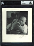 "Joan Miro Signed 7.75"" x 9"" Photograph - BAS/Beckett Graded MINT 9"
