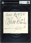 "Walt Disney Large & Impressive 6"" x 7"" Near-Mint Album Page (BAS/Beckett Encapsulated)"