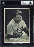 "Jimmie Foxx Rare Signed & Inscribed 6.5"" x 9"" Photograph (BAS/Beckett Encapsulated)"