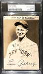 "Lou Gehrig Superbly Signed 3.5"" x 5.25"" Postcard Photo (PSA/DNA Encapsulated)"
