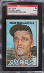 Roger Maris Signed 1967 Topps Baseball Card #45 (SGC Encapsulated)