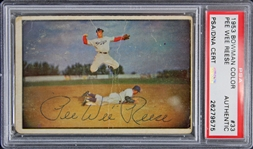 Pee Wee Reese Signed 1953 Bowman Color #33 Card (PSA/DNA Encapsulated)