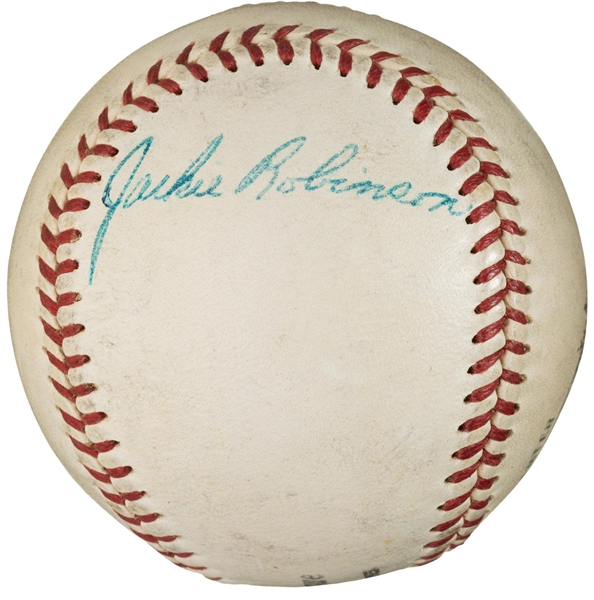 Jackie Robinson Extraordinary Vintage Signed ONL (Giles) Baseball (PSA/DNA)