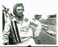 "Steve McQueen Signed 8"" x 10"" ""Le Mans"" Racing Photograph (PSA/DNA)"