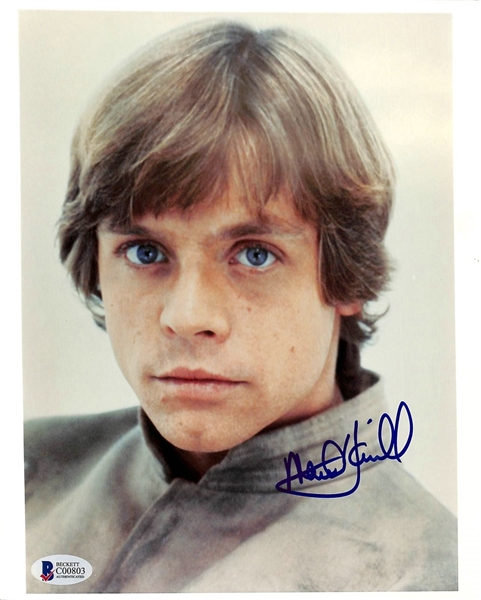 Star Wars: Mark Hamill Signed 8 x 10 Color Photo as Luke Skywalker (Beckett/BAS)